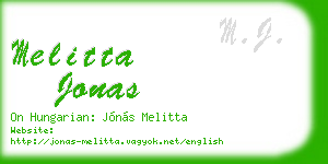 melitta jonas business card
